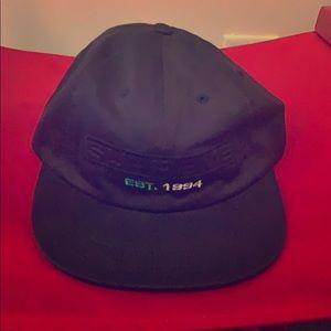 Supreme Embossed Logo 6-panel Navy Hat